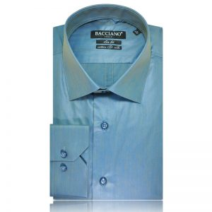 Men dress shirt cham blue lak 7098 a