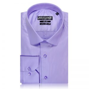 Men dress shirt purple lak 7076 a
